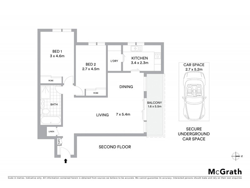 2E/14 Bligh Place, Randwick NSW 2031 Floorplan