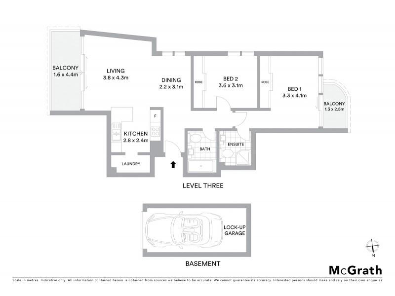 14/65 Coogee Bay Road, Coogee NSW 2034 Floorplan