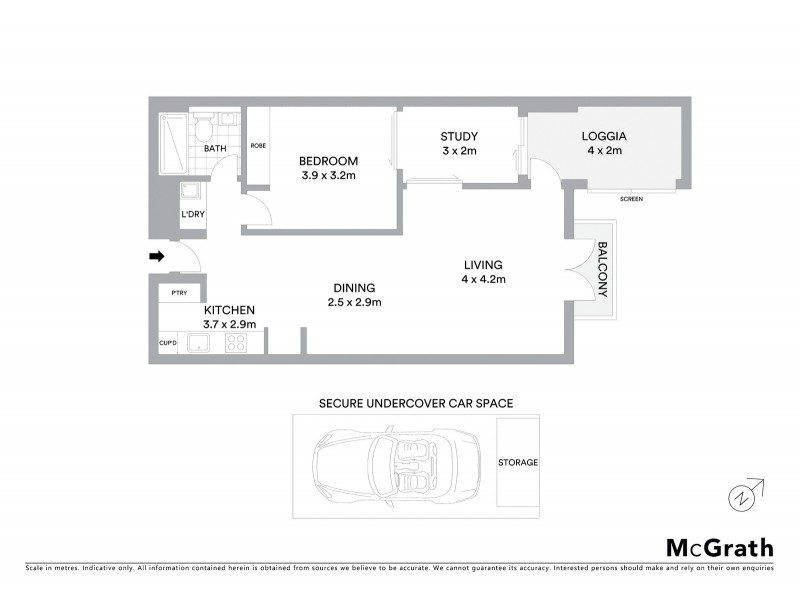 316/10 Jaques Avenue, Bondi Beach NSW 2026 Floorplan