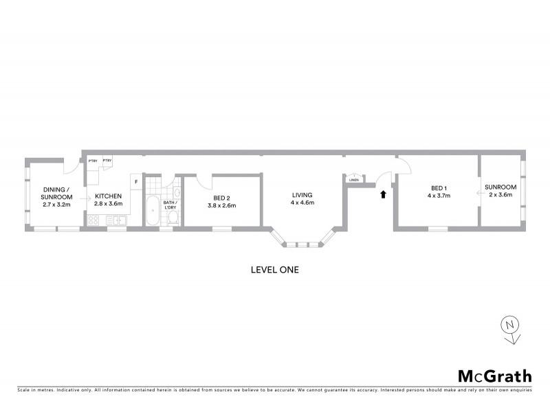 2/17 Alexander Street, Coogee NSW 2034 Floorplan