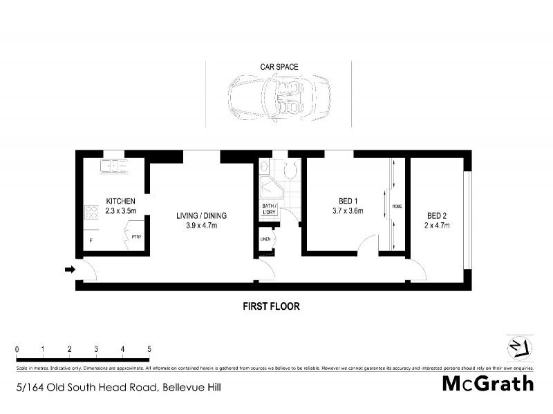 5/164 Old South Head Road, Bellevue Hill NSW 2023 Floorplan