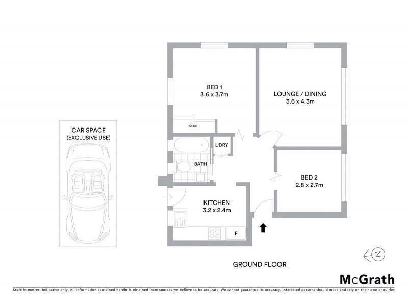 2/79 Willis Street, Kingsford NSW 2032 Floorplan
