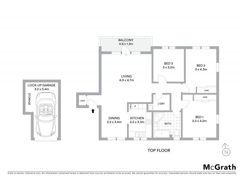 33/10 Alexander Street, Coogee NSW 2034 Floorplan