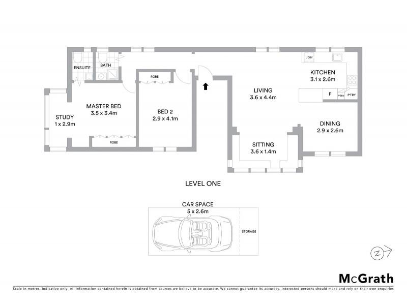 11/247 Oberon Street, Coogee NSW 2034 Floorplan