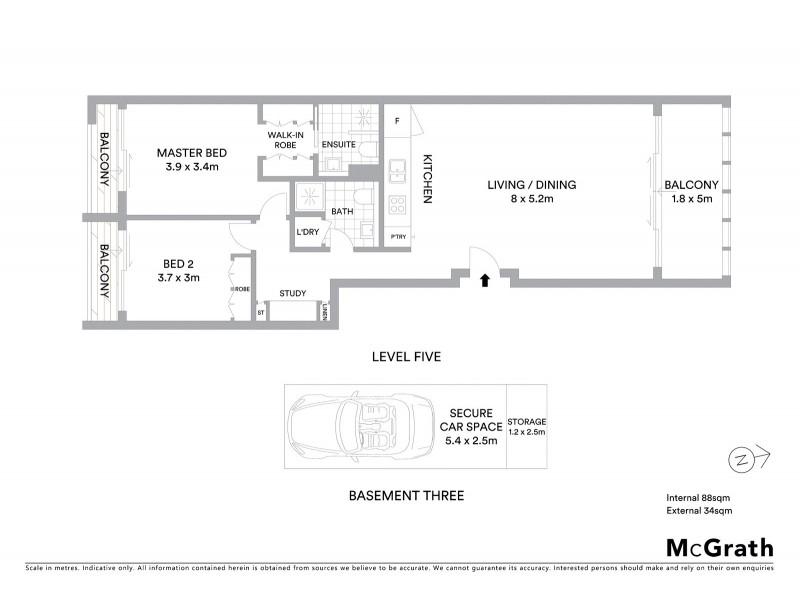 9B/125 Boyce Road, Maroubra NSW 2035 Floorplan