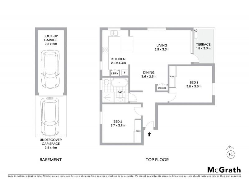 7/52 Dudley Street, Coogee NSW 2034 Floorplan