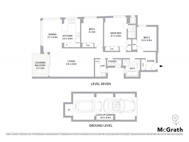 27/178 Beach Street, Coogee NSW 2034 Floorplan