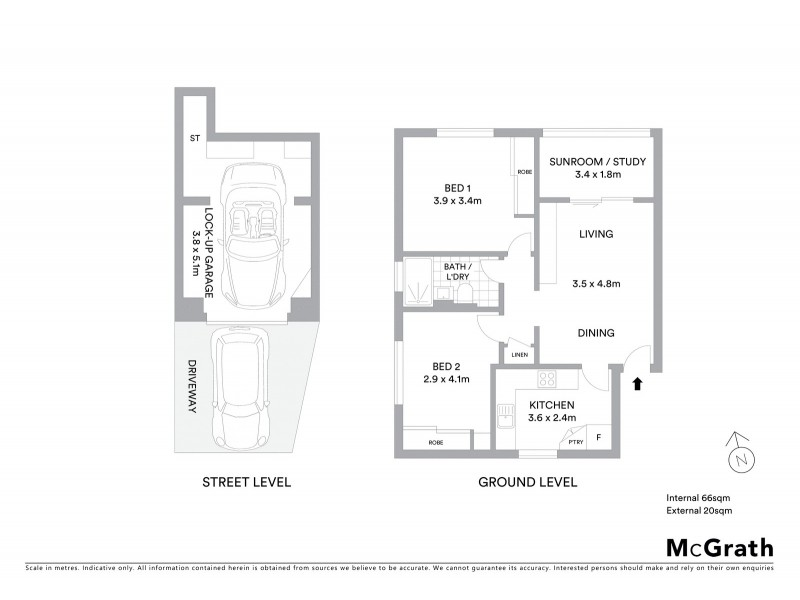 1/206 Oberon Street, Coogee NSW 2034 Floorplan