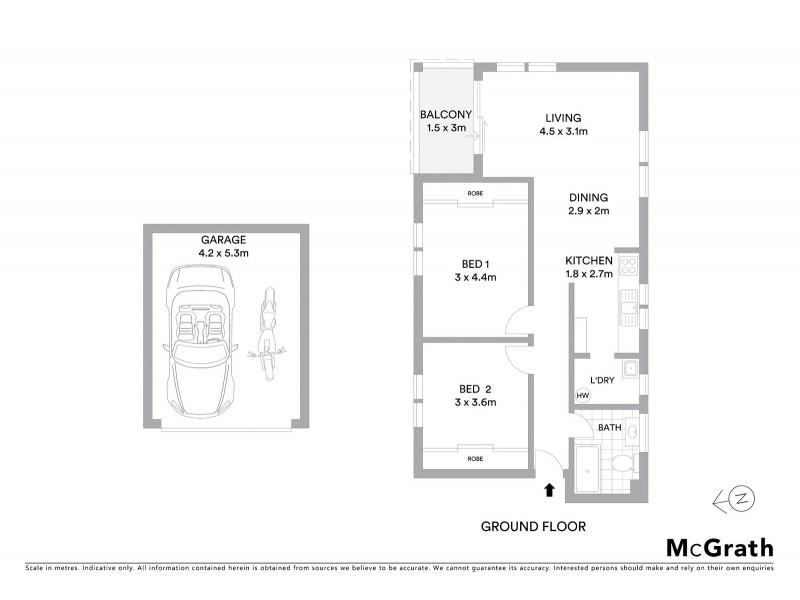 1/26 Bishops Avenue, Randwick NSW 2031 Floorplan