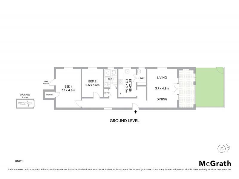 1/14A Carr Street, Coogee NSW 2034 Floorplan