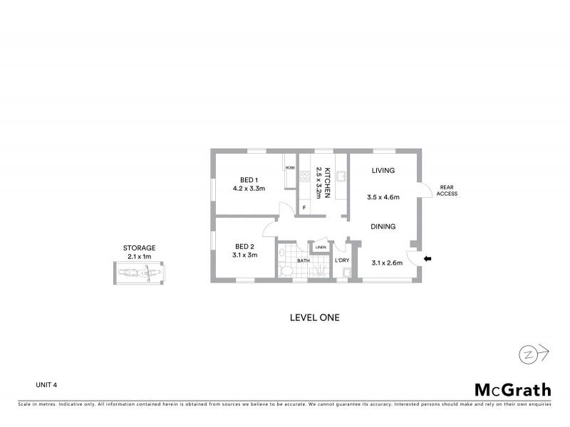 4/14A Carr Street, Coogee NSW 2034 Floorplan