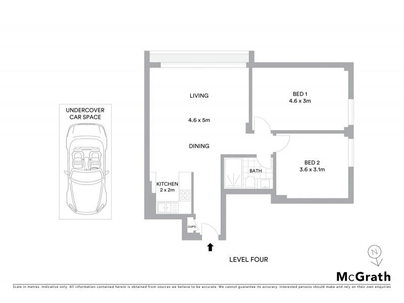 45/260 Alison Road, Randwick NSW 2031 Floorplan