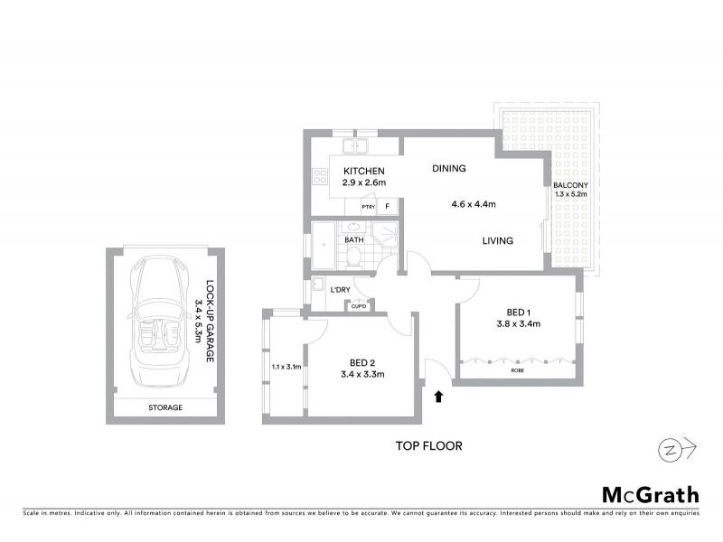 12/198 Carrington Road, Randwick NSW 2031 Floorplan
