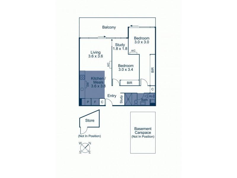 207/770D Toorak Road, Glen Iris VIC 3146 Floorplan