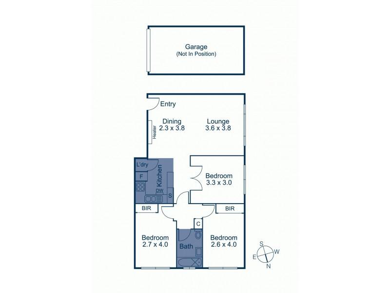 8/132 Milton Parade, Glen Iris VIC 3146 Floorplan