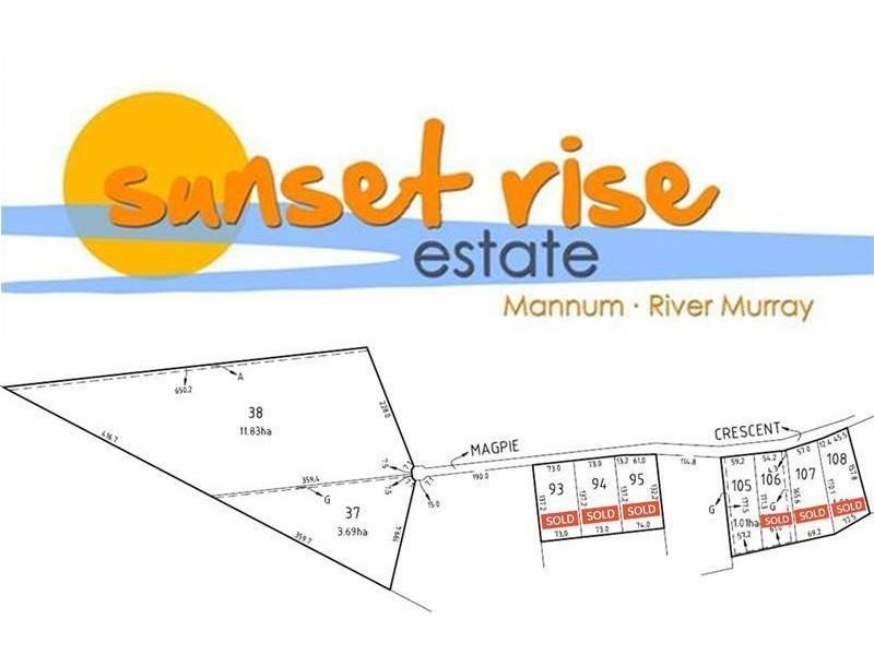 Lots 37 & 38 'Sunset Rise' Magpie Crescent, Mannum SA 5238