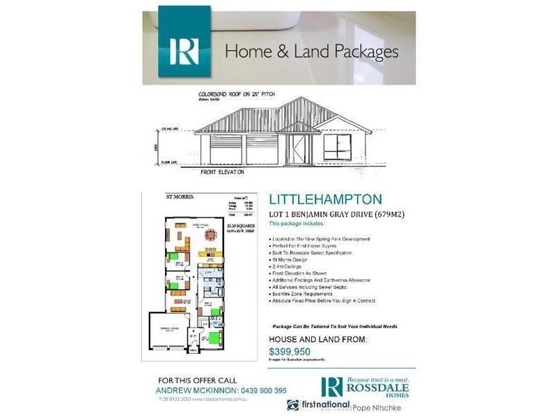 00 Benjamin Gray Drive, Littlehampton SA 5250