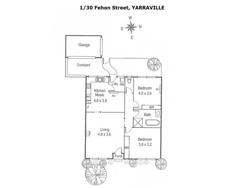 1/30 Fehon Street, Yarraville VIC 3013 Floorplan