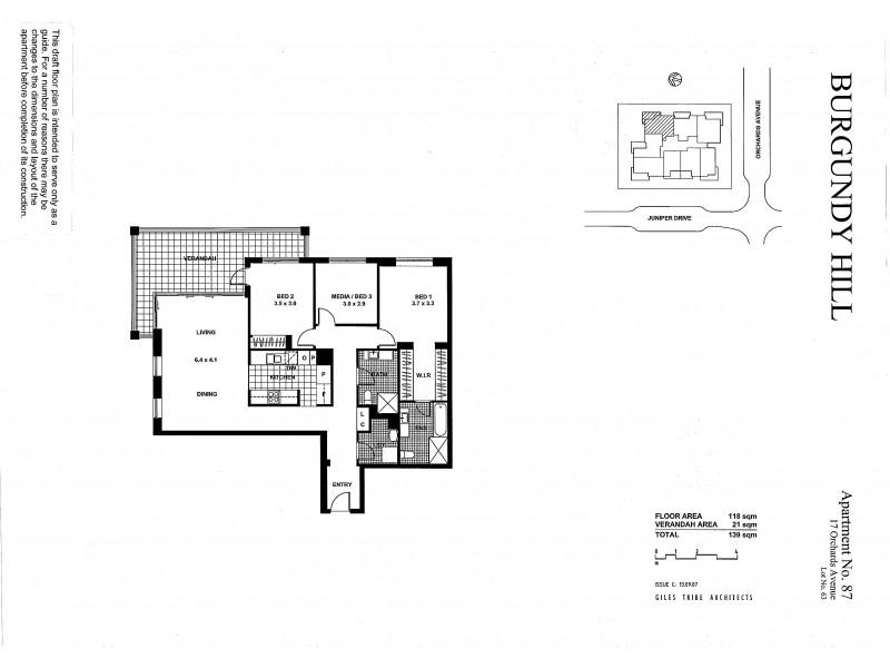 87/17 Orchards Avenue, Breakfast Point NSW 2137 Floorplan