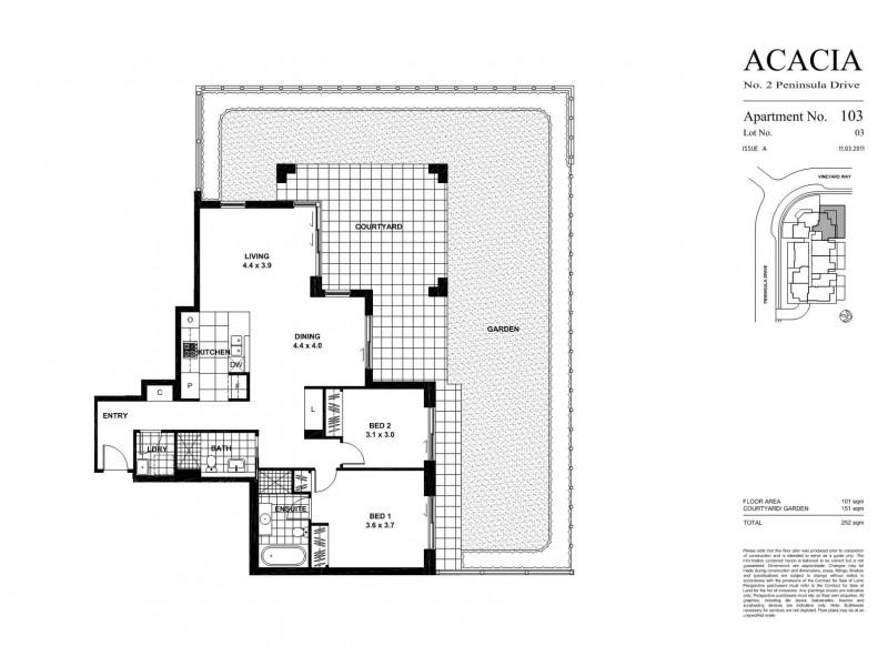 103/2 Peninsula Drive, Breakfast Point NSW 2137 Floorplan