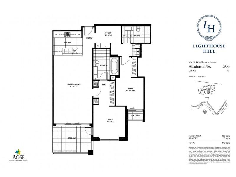 506/18 Woodlands Avenue, Breakfast Point NSW 2137 Floorplan