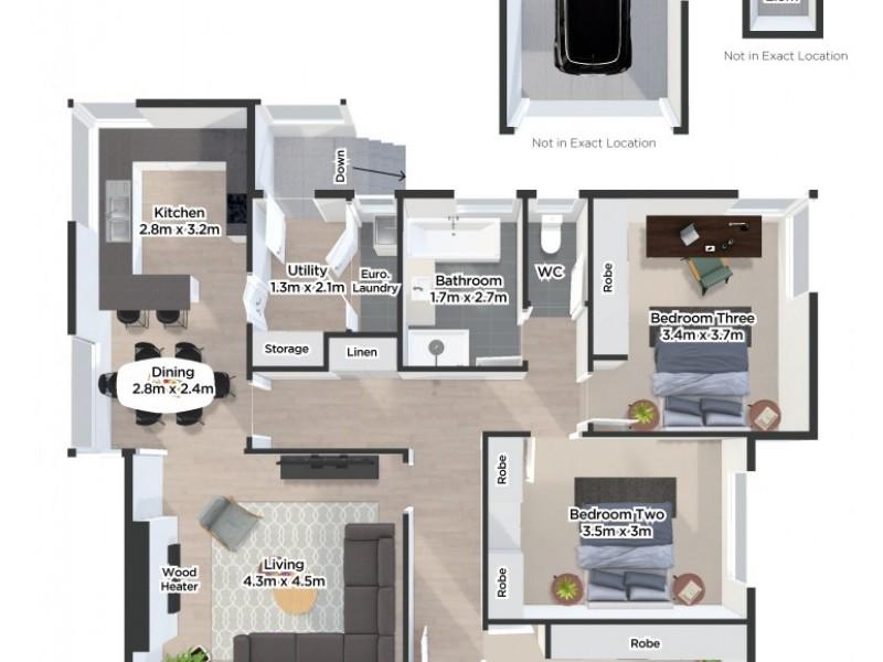 4 Paringa Avenue, Newnham TAS 7248 Floorplan