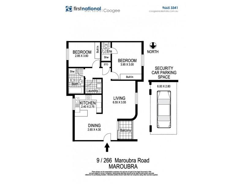 9/266 Maroubra Road, Maroubra NSW 2035 Floorplan