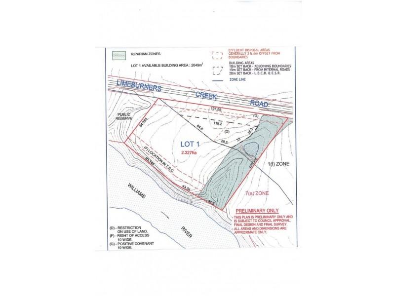 Lot 1 Limeburners Creek Road, Clarence Town NSW 2321 Floorplan