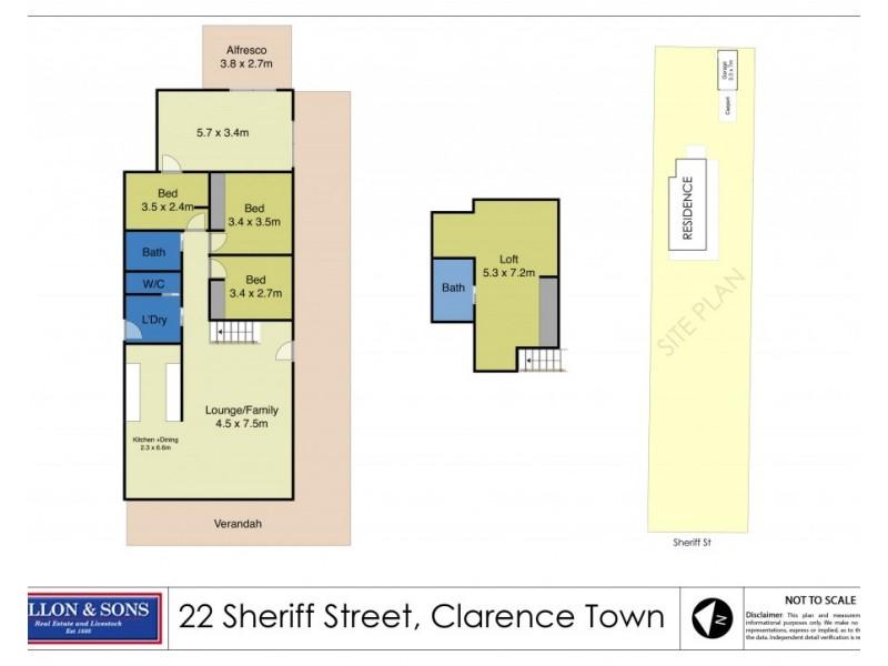22 Sheriff Street, Clarence Town NSW 2321 Floorplan
