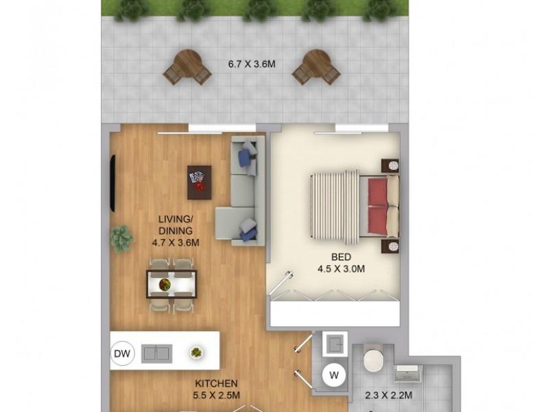 AG04/91 Old South Head Road, Bondi Junction NSW 2022 Floorplan