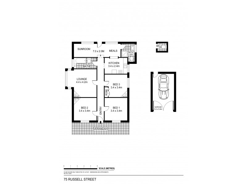 75 Russell Street, Quarry Hill VIC 3550 Floorplan