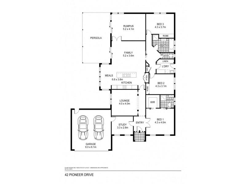 42 Pioneer Drive, Maiden Gully VIC 3551 Floorplan