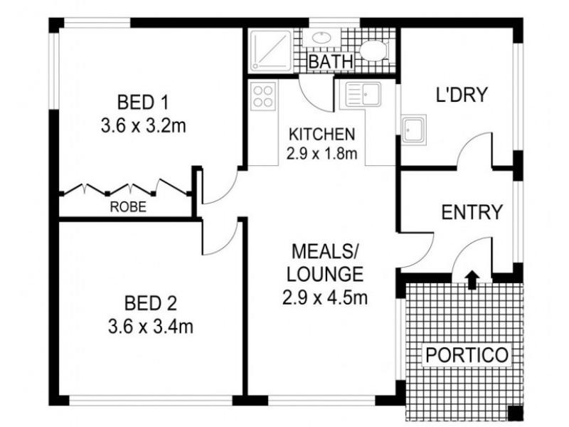1/41 Marshall Crescent, Kennington VIC 3550 Floorplan