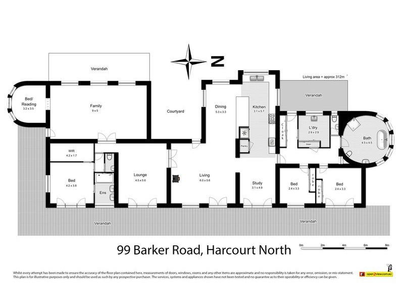 99 Barker Road, Harcourt North VIC 3453 Floorplan