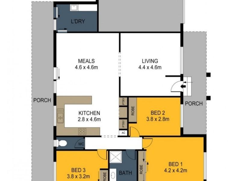 50 Carolyn Way, Maiden Gully VIC 3551 Floorplan