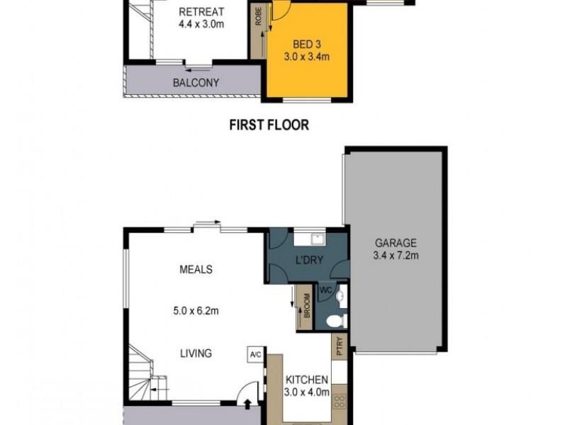 1/16 Skene Street, Kennington VIC 3550 Floorplan