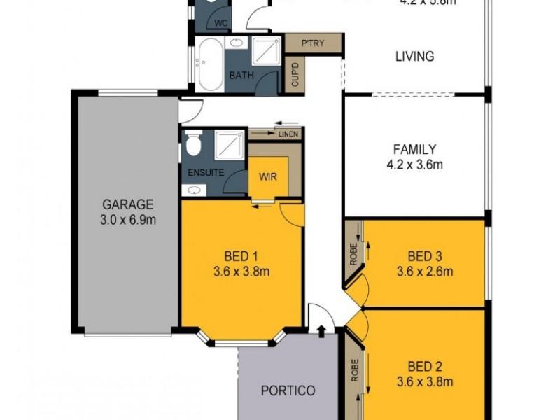 1/100 St Aidans Road, Kennington VIC 3550 Floorplan