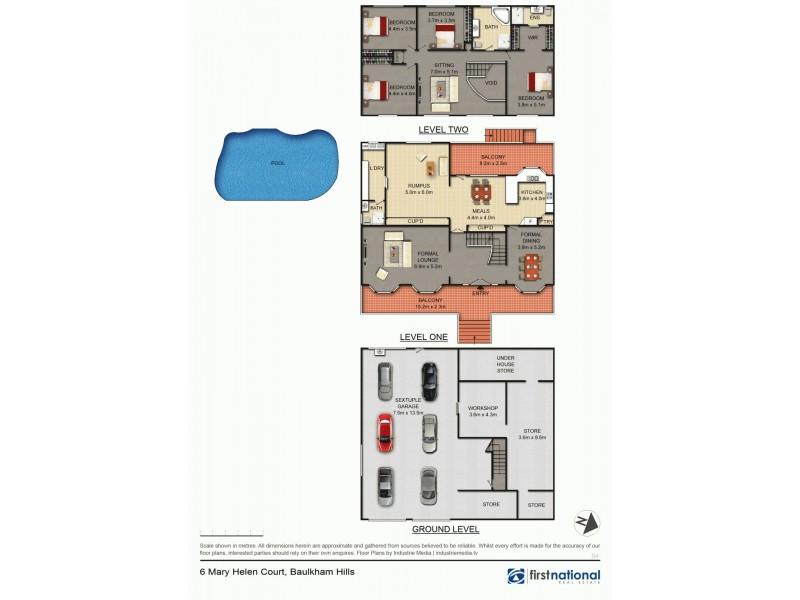 6 Mary Helen Court, Baulkham Hills NSW 2153 Floorplan