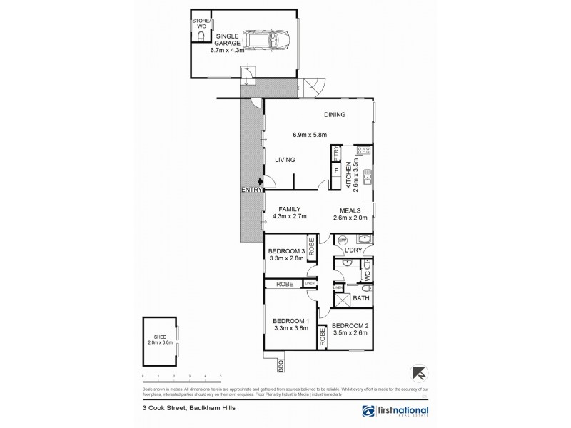 3 Cook Street, Baulkham Hills NSW 2153 Floorplan