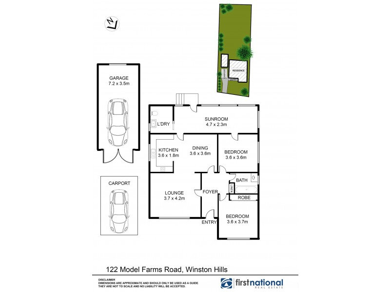 122 Model Farms Road, Winston Hills NSW 2153 Floorplan