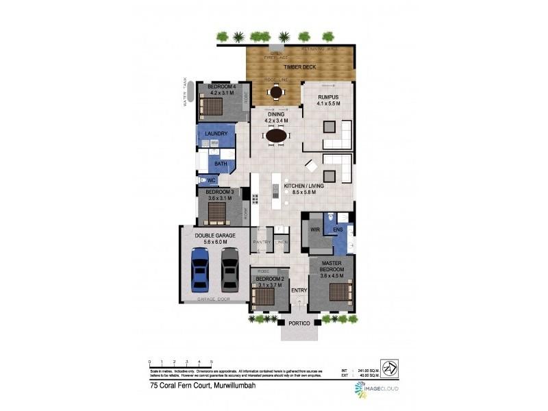 75 Coral Fern Cct, Murwillumbah NSW 2484 Floorplan