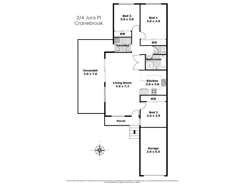 2/4 Jura Close, Cranebrook NSW 2749 Floorplan