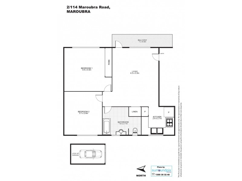 2/114 Maroubra Road, Maroubra NSW 2035 Floorplan