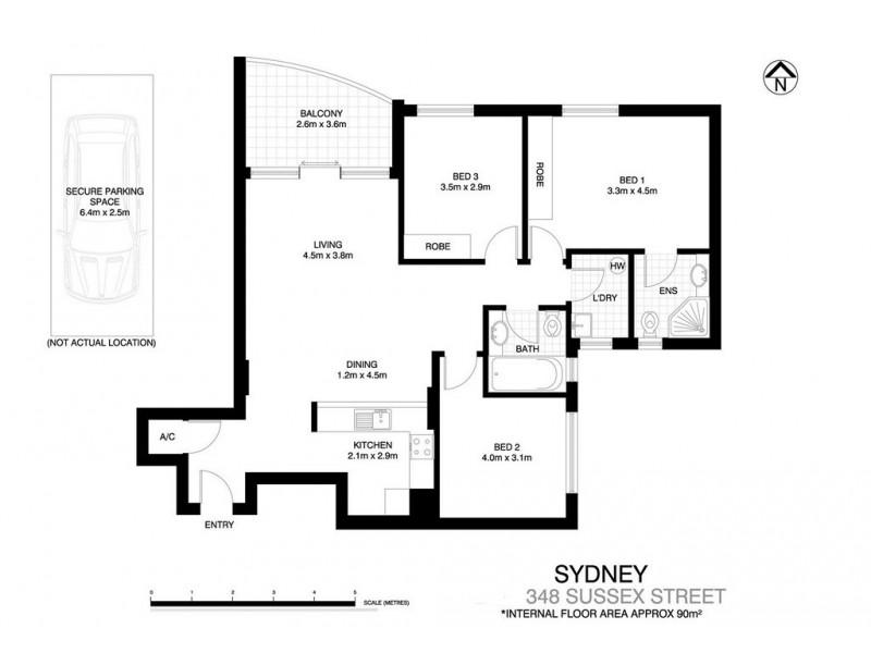 348 Sussex Street, Sydney NSW 2000 Floorplan