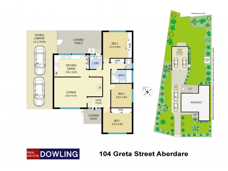 104 Greta Street, Aberdare NSW 2325 Floorplan