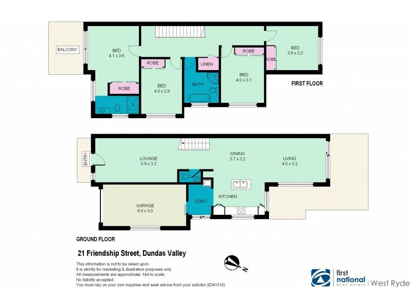 21 Friendship Street, Dundas Valley NSW 2117 Floorplan