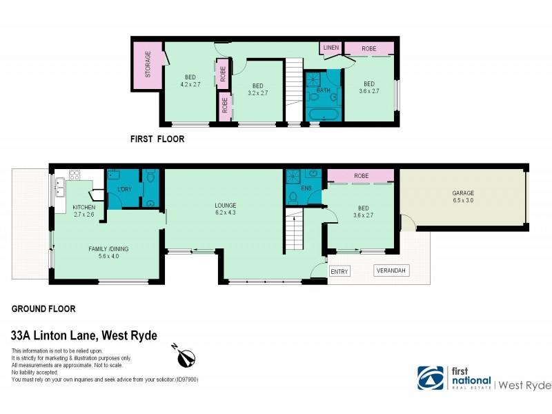 33A Linton Lane, West Ryde NSW 2114 Floorplan