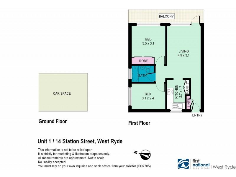 1/14 Station Street, West Ryde NSW 2114 Floorplan