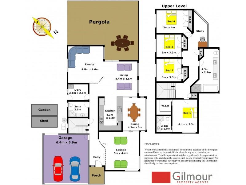 44 Valerie Avenue, Baulkham Hills NSW 2153 Floorplan