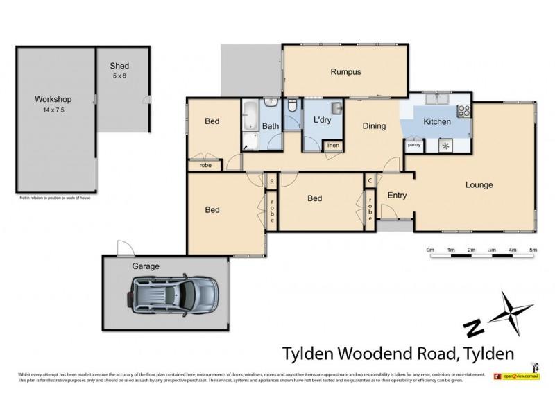 14 Woodend Tylden Road, Tylden VIC 3444 Floorplan